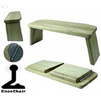 Meditationsbank Eschenholz klappbar Sitzhöhe 21 cm