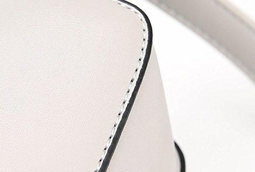 ZPFME Frauen Handtasche Art Und Weise Miniback Schulterbeutel Partei Retro Damen Bankett Kurierbeutel Damebeutel Geschenk Grey