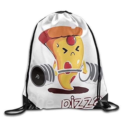 Sporttasche mit Kordelzug, Sportrucksack, Reiserucksack, Funny I Do It for The Pizza Unisex Home Rucksack Shoulder Bag Sport Drawstring Backpack Bag - Elite-basketball-tasche