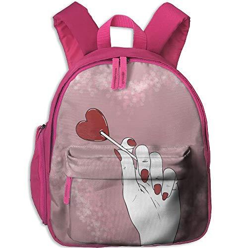Red Lollipops Kid and Toddler Student Backpack School Bag Super Bookbag -