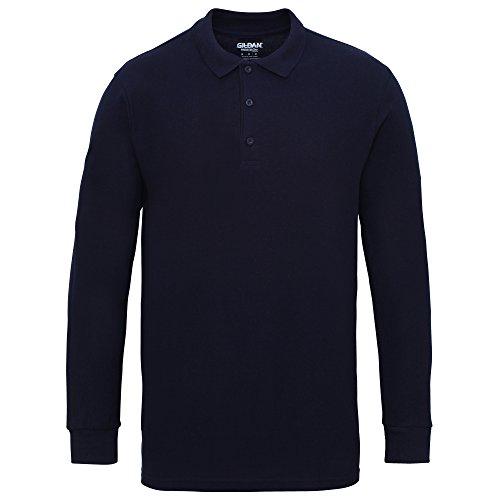 Gildan Herren Pique Polo-Hemd, langärmlig (3XL) (Marineblau) Tour-threads Shirt