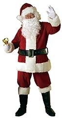 Idea Regalo - Rubie's 7509 Costume Babbo Natale Velluto
