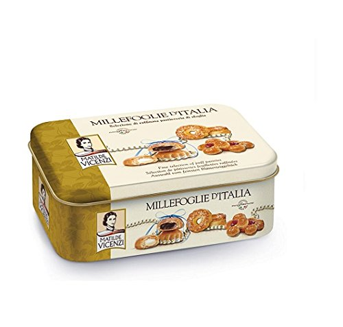 Matilde vicenzi Millefoglie d'Italia Italian Puff Pastry Biscuit Cookie Selection Tin 330g Since 1905!