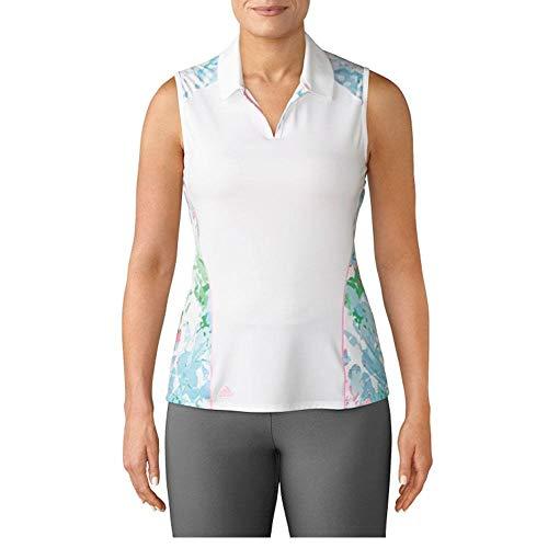 Adidas Golf 2017 Women's Resort Sleeveless Polo Shirt - White - CF5522 (White - M)