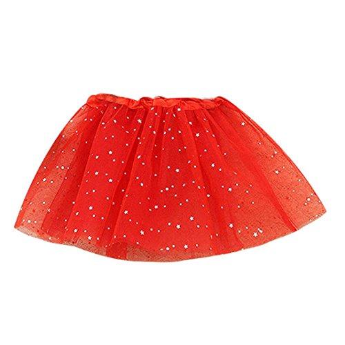 FNKDOR Baby Kinder Mädchen Tüllröcke Petticoat Kurze Tutu Rock Ballet Tütü Unterrock ()