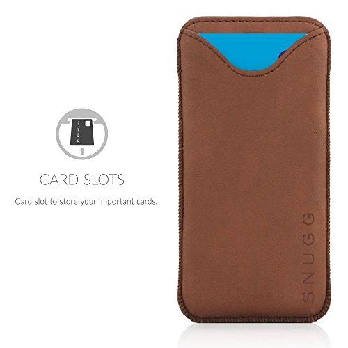 Cover iPhone 7 Plus and 8 Plus, Snugg Apple iPhone 7 Plus and 8 Plus Custodia Case Portafoglio [Slot Per Schede] Protettiva Rigida Pelle - Marrone Blue