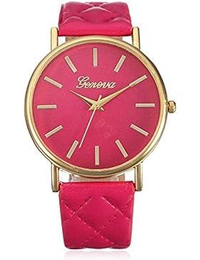 Franterd® Damen-Armbanduhr Elegant Uhr Modisch Zeitloses Design Klassisch Leder Römische Ziffern-Leder-analoge...