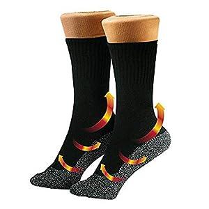 WEIHUIMEI Heizsocken für Fußwärmer Freddi Aluminized Fibre Hiking Camping Riding Long Sock