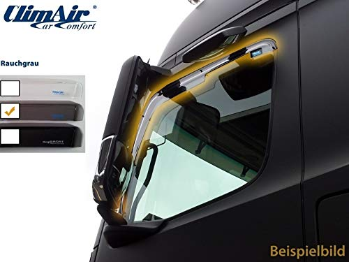 ClimAir LKW Windabweiser für Fahrer- und Beifahrertür -CLI0046071 (Farbe: rauchgrau)