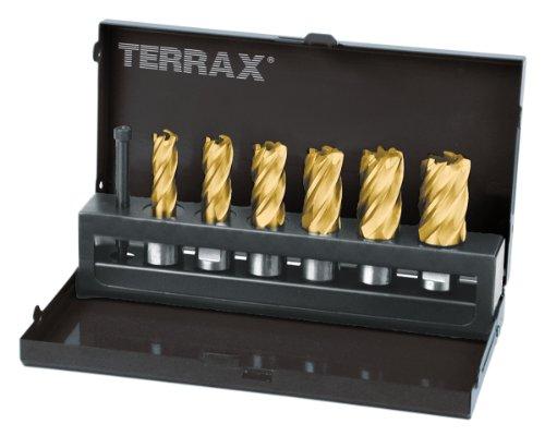 TERRAX by RUKO  A108820T 7-teiliger Kernbohrer-Satz HSS-TiN Ø 12,0- 22,0 mm