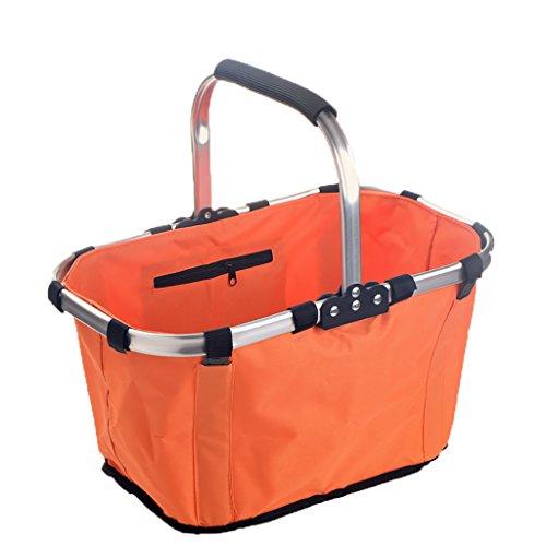 Folding picnic basket JF faltender Picknickkorb/Familieneinkaufskorb im Freien Umweltschutz tragbar bequem/43cm * 27cm * 23cm (Farbe : B) (Stoff Faltbare 4 Baskets)