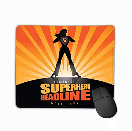 Non-Slip Rubber Mousepad Gaming Mouse Pad 11.81 X 9.84 Inch super Hero Woman tears Open her Background to Reveal Symbol Female Burst