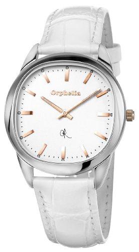 Orphelia - OR53172181 - Montre Femme - Quartz Analogique - Cadran Blanc - Bracelet Cuir Blanc