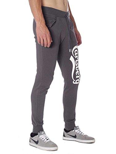 Pantalone Carlsberg In Felpina Invernale CBU2324 Made In Italy Grigio Piombo, XXL MainApps
