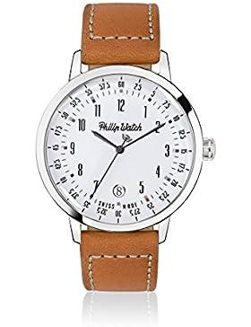 PHILIP WATCH Damen - Armbanduhr GRAND ARCHIVE 1940 Analog Quarz Leder R8251598002