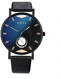 Coconano reloj de moda hombre reloj de marca hombre minimalista escalas romanas correa de cristal azul