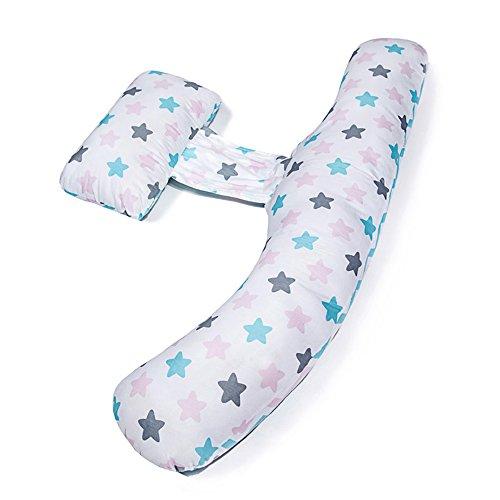 SPQRSXC Femmes enceintes oreiller d'allaitement allaitement et oreiller d'allaitement, coussin de couchage avec soulèvement d'estomac, oreiller pour dormir côté taille (Couleur : D)