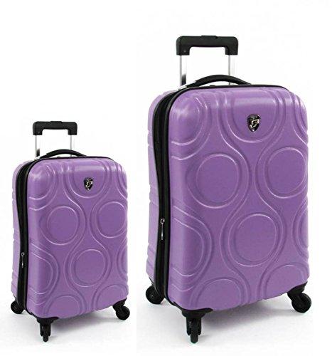 Sets de Bagages, valises - Première Classe Valise Rigide Set 2 pièces - Heys Core Eco Orbis Violet Bagages à Main + Trolley avec 4 Roues Grand
