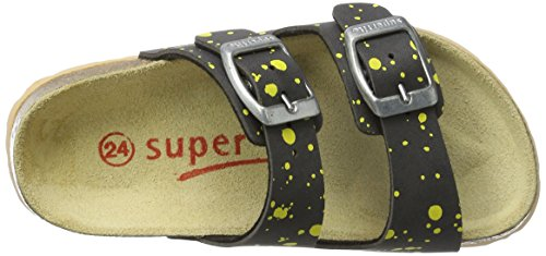 Superfit Jungen Fussbettpantoffel Pantoffeln Grau (Stone Multi)