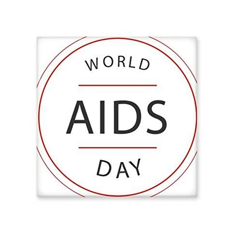 DIYthinker 1. Dezember Welt-AIDS-Tag HIV-Bewusstsein Solidarität Symbol Keramik Bisque Fliesen für Dekorieren Badezimmer-Dekor Küche Keramische Fliesen Wandfliesen L -