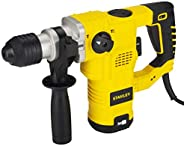 STANLEY STHR323K 32mm 1250-Watt 3 Mode L-Shape SDS-Plus 5Kg Hammer with Kitbox (Yellow and Black)