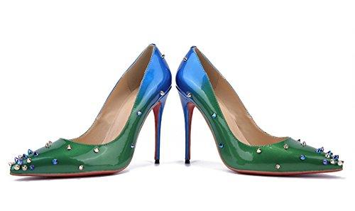 ... TDA - Sandali con Zeppa donna blue-green ...