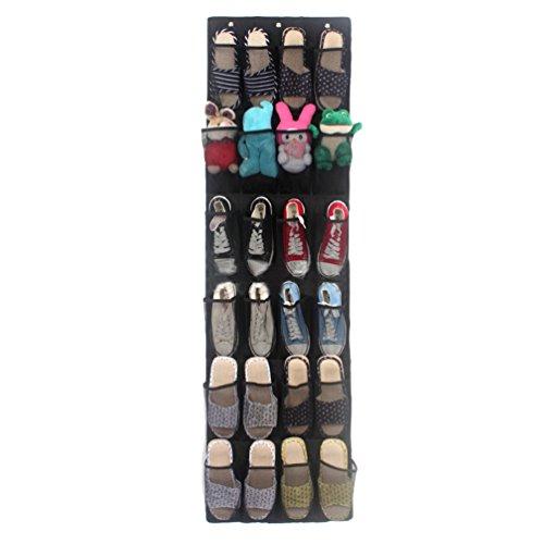 Lihaer 24 Poches Rangement Suspendus Organiseur Pour Chaussures Jouets Multifonctions Non Tissé Sacs De Rangement