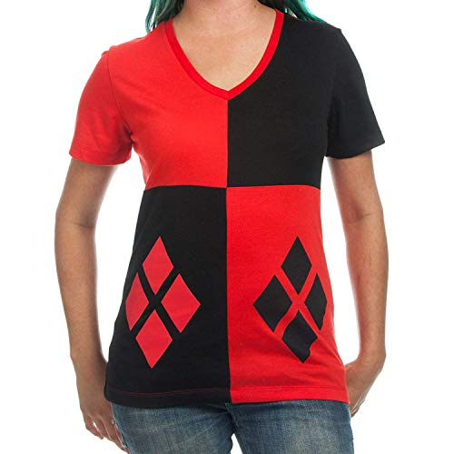 Ale haung Disfraz de Harley Quinn, Camiseta Junior, XL