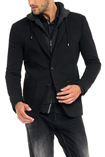 Salsa - Fleeceshirt, mit Strickkapuze - Herren Noir