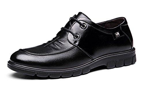 Hommes Beau Derby Chaussures Automne Hiver Antidérapant Confortable Soirée Oxford Chaussures En Caoutchouc Black