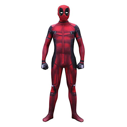 WSX 3D-Digitaldruck Deadpool Cosplay, Einteilige Full-Fit-Strumpfhose Für Halloween-Events Cosplay,Children-XXL