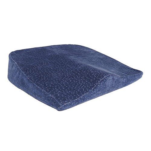 Sanolind® Orthopädisches Druckentlastungskissen für Bandscheiben, Rücken, Steißbein, ermöglicht aufrechtes und schmerzlinderndes Sitzen. Keilkissen, Sitzkissen für Auto, Büro, Reha, ( blau )