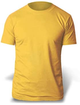 Gildan t-Shirt in Cotone Pesante TM da Adulto Gold X-Large