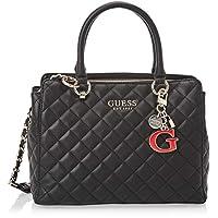 Guess Womens Satchel Bag, Black - VG766706