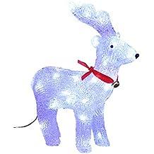 69dd463d7ee DECORACION DE NAVIDAD - RENO luminoso - efecto escarcha - 40 bonbillas LED  Blancas FEERIC LIGHTS    CHRISTMAS