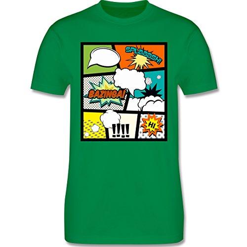 Comic Shirts - Comic Buchseite - Herren Premium T-Shirt Grün