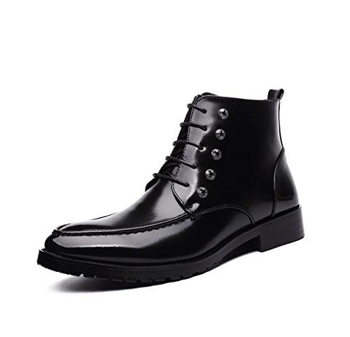Printemps En Cuir Automne Noir Mode Confortable Casual Derby Oxford Dentelle Mocassins Chaussures Vintage Martin Bottes Black