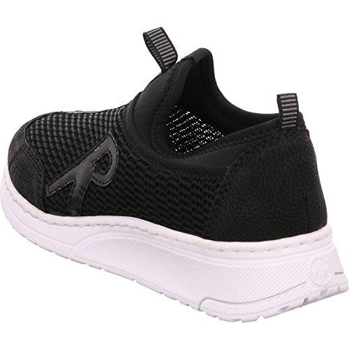 Rieker N5054, Sneaker Infilare Donna Nero