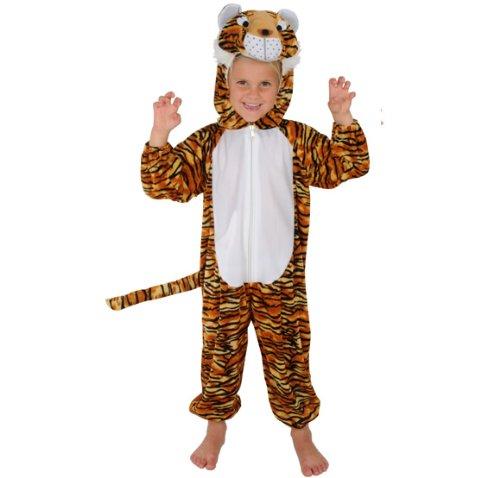 NEU TIGER KINDER KOSTÜM FÜR FASCHING KARNEVAL 110-116 KINDERKOSTÜM (Tiger Kostüm Kostüm)