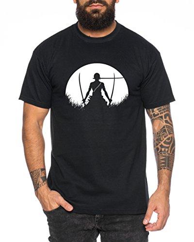 Sunrise Zoro Camiseta de Hombre One Luffy Monkey D. Piece, Farbe2:Negr