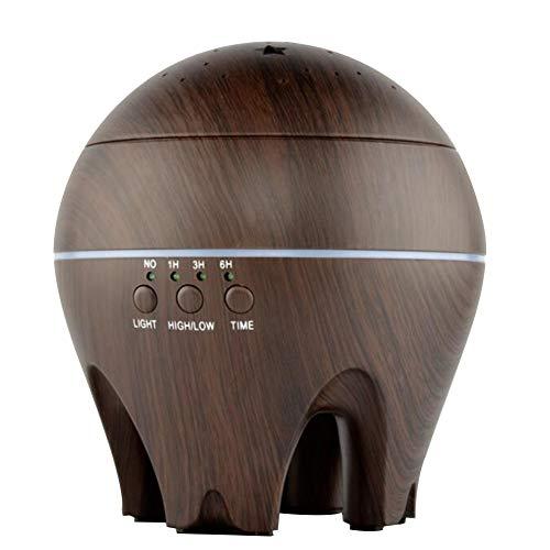 Preisvergleich Produktbild Aroma Diffuser 500ml Ultraschall Aromatherapie Luftbefeuchter Oil Düfte Luftreiniger 7 Farben LED Duftlampe Wasserlose Power-off 4 Timer Einstellbarer Nebelmodus JIAYUE-02,  Deep Wood Grain