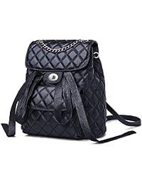 5d14c26201fdc WENDYRAY Echtes Leder Rucksack für Mädchen Bogen Rotierenden Knopf Design  Schulter Schule Rucksäcke Weibliche Mode Tasche…