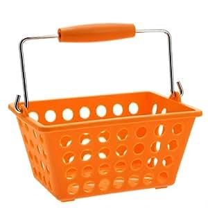 Panier de rangement avec anse So city - Petit modèle - PVC - Orange