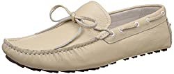 Woodland Mens Beige Leather Boat Shoes - 6 UK/India (40 EU)