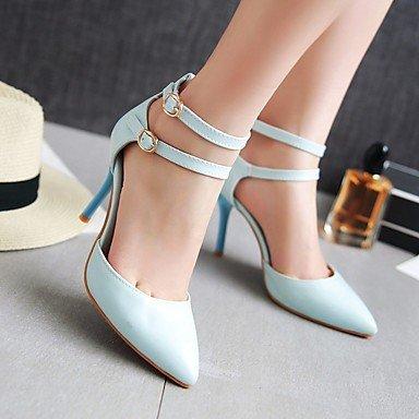 LvYuan Da donna-Sandali-Formale Casual Serata e festa-Altro-A stiletto-PU (Poliuretano)-Blu Rosa Bianco Blue