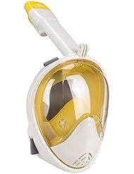 Elite O&S Tauchmaske Schnorchel Maske volles Gesicht Schnorchel einfache Atmung 180° Panorama Schnorchel Maske mit Anti-Nebel Anti-Auslauf Schnorchel Runde Linsen Design für Erwachsene und Kinder