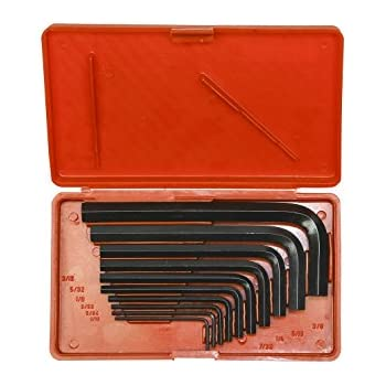 Taparia KI 10V Steel Allen Key Set (Black Finish, Box Packing, Pack of 10)