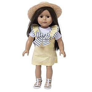 The New York Doll Collection Amarillo, Sombrero Zapatos Adapta 45 cm-Juego de Vestido de 4 Piezas para muñecas (B075FDYH3H)