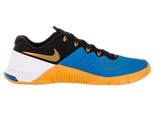 Nike Metcon 2, Chaussures de Sport Homme, Noir Multicolore - Azul / Dorado / Blanco (Pht Blue / Blck-Unvrsty Gld-Wht-)