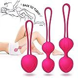 Liebeskugeln Orgasm Balls 3er Set, Perfekt für Frauen zum Beckenbodentraining,Sexspielzeug Als Beckenbodentrainer - Stärkung der Vaginalmuskulatur & Sextraining,Medizinisches Silikon,Wasserfest